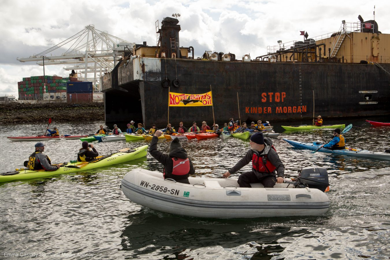 Mosquito Fleet Stop KM Action March 18, 2018 Photo by Emma Cassidy | Survival Media Agency